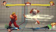 Ryu usando Tatsumaki Senpukyaku en Street Fighter IV