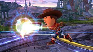 Ataque normal (3) Tirador Mii SSB4 Wii U