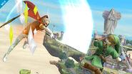 Grahim atacando a Link SSB4 (Wii U)