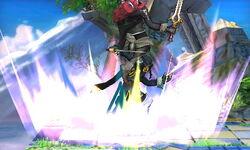 Lanzamiento hacia abajo Lucina SSB4 (3DS)