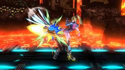 Lanzamiento trasero de Samus Zero SSB4 (Wii U)