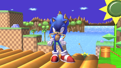 Pose de espera 2 Sonic SSBB