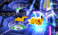 Ataque aéreo delantero Pikachu SSB4 (3DS)