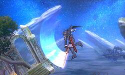 Ataque aéreo hacia adelante Lucina SSB4 (3DS)