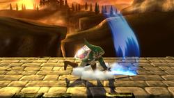 Ataque en carrera de Link (2) SSB4 (Wii U)