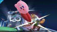 Kirby atacando a Fox SSB4 (Wii U)