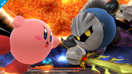 Meta Knight y Kirby en el Destino Final SSB4 (Wii U)