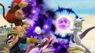 Mewtwo, Sonic, Diddy Kong y Wario en Altárea SSB4 (Wii U)