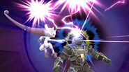 Mewtwo usando su Smash Final contra Ganondorf SSB4 (Wii U)