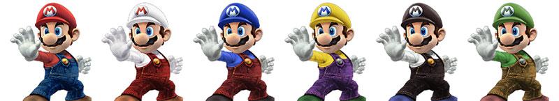 Paleta de colores Mario SSBB