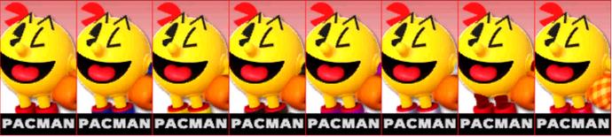 Paleta de colores de Pac-Man (JAP) SSB4 (3DS)