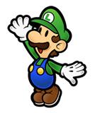 Pegatina de Luigi Super Paper Mario SSBB