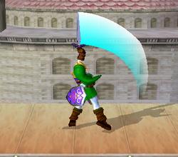 Ataque Smash hacia arriba de Link (3) SSBM