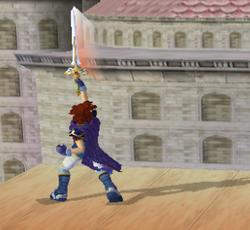 Ataque Smash hacia arriba de Roy SSBM