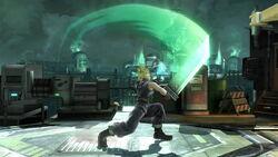 Ataque fuerte hacia arriba Cloud SSB4 (Wii U)