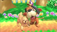 Nintendog junto a Duo Duck Hunt en SSBU