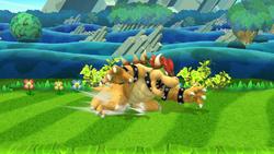 Agarre corriendo de Bowser SSB4 (Wii U)