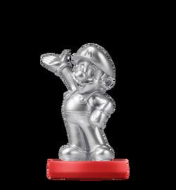 Amiibo de Mario plateado (serie Mario)