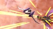 Arwing atacado por Hal Abarda SSBB