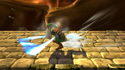 Ataque Smash inferior de Link (2) SSB4 (Wii U)