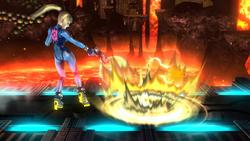 Ataque Smash inferior de Samus Zero SSB4 (Wii U)