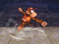 Ataque Smash lateral Diddy Kong SSBB
