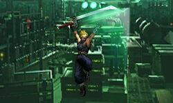 Ataque aéreo hacia arriba Cloud SSB4 (3DS)