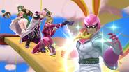 Créditos Modo Leyendas de la lucha Captain Falcon SSB4 (Wii U)