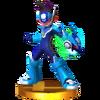 Trofeo de Star Force Mega Man SSB4 (3DS)