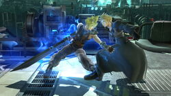 Agarre corriendo Cloud SSB4 (Wii U)