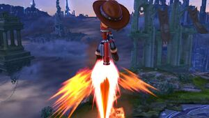 Ataque aéreo hacia abajo Tirador Mii SSB4 Wii U
