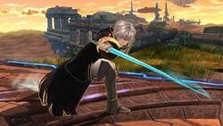 Ataque fuerte inferior Robin SSB4 (Wii U)