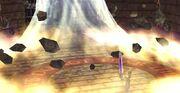 Cloud usando Toque Final en Final Fantasy VII
