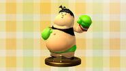 Diseño de trofeo - Little Mac (Captain Rainbow) - (SSB. for Wii U)