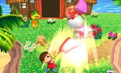 Lanzamiento hacia arriba Aldeano (2) SSB4 (3DS)