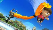 Midna agarrando al aldeano SSB4 (Wii U)