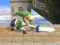 Ataque fuerte lateral Toon Link SSBB