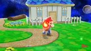 Mario usando la Barrera de fuego (2) SSB4 (Wii U)