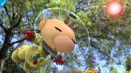 Olimar cayendo en el Vergel la Esperanza SSB4 (Wii U)
