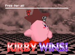 Pose de victoria de Kirby (1-1) SSB
