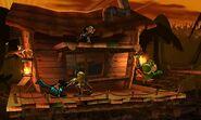 Yoshi, Link, Lucario y Sheik en la Jungla Jocosa SSB4 (3DS)