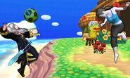 Entrenadora de Wii Fit y Daraen mujer en Isla Tórtimer SSB4 (3DS)