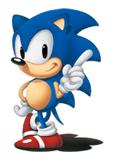 Pegatina Sonic clásico (Sonic The Hedgehog versión Japonesa)