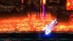 Salto mortal bajo (2) SSB4 (Wii U)