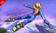 Samus Zero en el aire SSB4 (3DS)