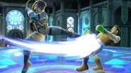 Snake y Little Mac en la Liga Pokémon de Kalos SSBU