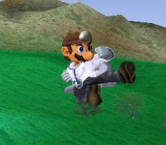 Ataque aéreo normal de Dr. Mario SSBM