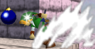 Link lanzando una bomba en SSB