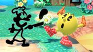 Pac-Man y Mr. Game & Watch en Isla Tórtimer SSBU