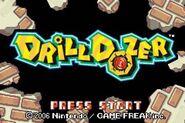 Pantalla de titulo de Drill Dozer